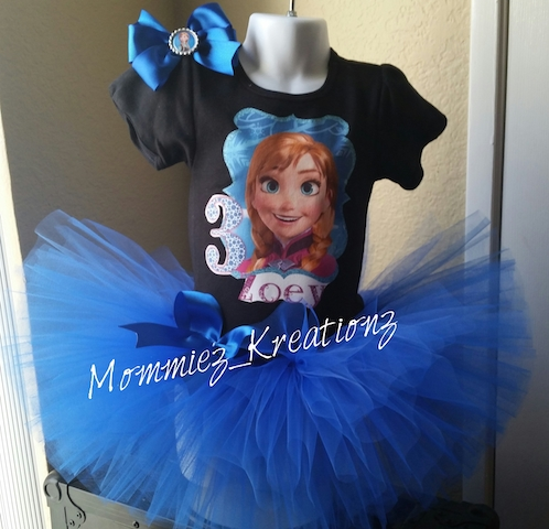 Disney Inspired Frozen Anna Tutu Set
