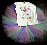 Unicorn Tutu Set, Unicorn Birthday Outfit