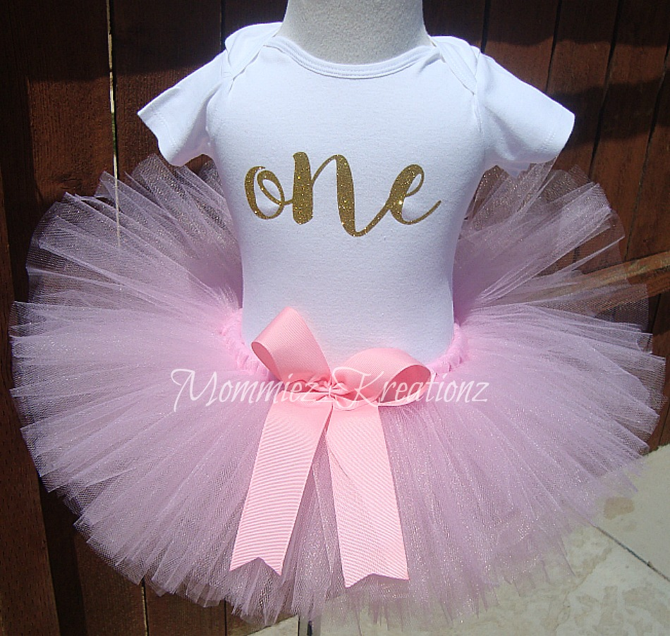 Pink & Gold ONE Tutu Set
