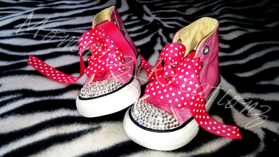 Custom Minnie Mouse inspired Converse