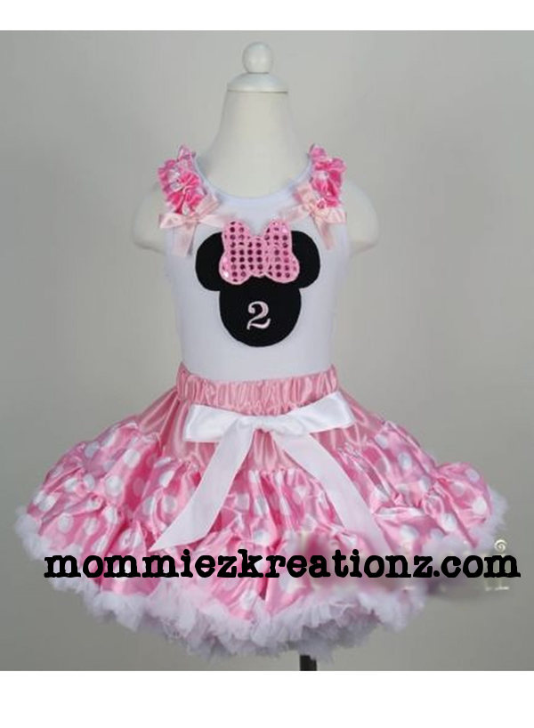 Pink Minnie Mouse Birthday Tutu Outfit
