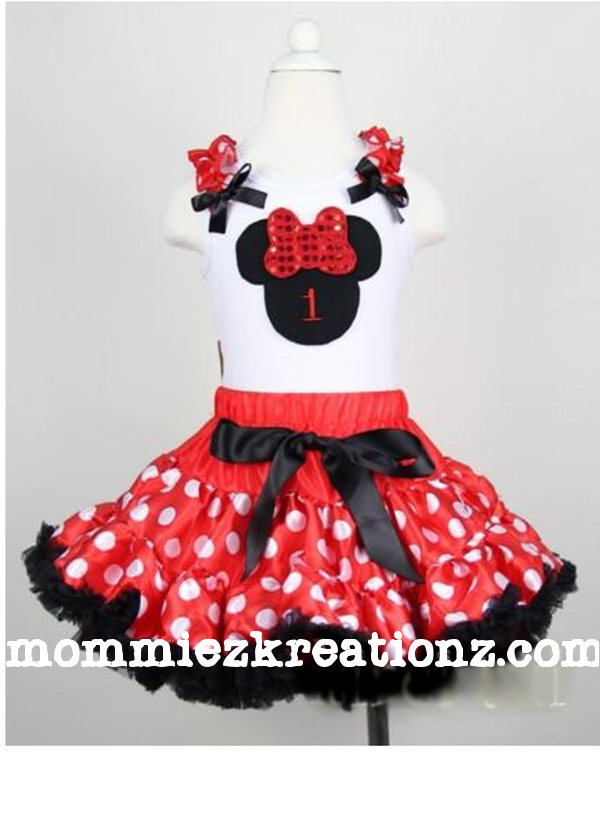Red Minnie Mouse Tutu Outfit