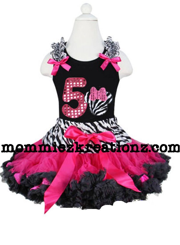 Minnie Mouse Zebra Tutu Outfit